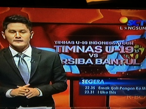 TV Coverage for TIMNAS U-19